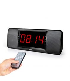 LEADSTAR HiFi Dual Unit Wireless bluetooth Speaker LED Display Alarm Clock 1800mAh TF Card Subwoofer