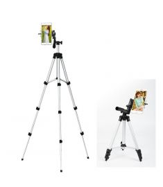 4 Sections Aluminium Camera Tripod Phone Stand With PhonE Mount For Iphone Samsung Xiaomi Huawei