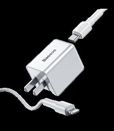 Baseus 18W PD Qucik USB Charger + PD 18W C-Ldata Cable for MacBook Pro/Air iPhone/iPad Pro