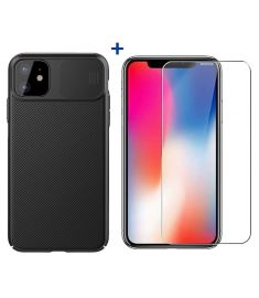 NILLKIN Shockproof Slide Camera Cover Protective Case + Bakeey Anti-explosion Tempered Glass Screen Protector for iPhone 11 6.1 inch