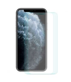 Enkay 5pcs 9H 0.26mm 2.5D Curved Full Coverage Tempered Glass Screen Protector for iPhone 11 Pro Max / iPhone XS Max
