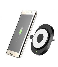 CR168 Qi Wireless Air Vent Car Mount Holder Charger for Samsung S8 S7 Ege G3 G4