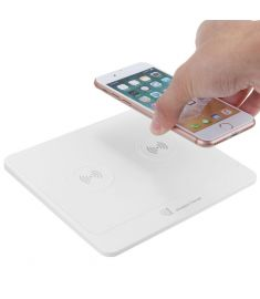 Dual Transmitter Qi Wireless Charger Dock Charging Pad Stand Station for Phone X Samsung S8