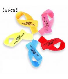 [5PCS] BUBM LSD Universal Cable Ties Cable Organizer Colorful Wire Straps Computer Tapes