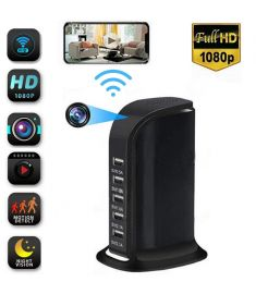 1080P Wireless Monitor Camera Multi-usb Wifi Phone Remote viewing Angle 90 with 5 USB Charger