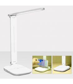 Foldable 2 in 1 USB 3-Level Brightness Touch Screen LED Light Reading Desk Lamp Desktop Phone Holder