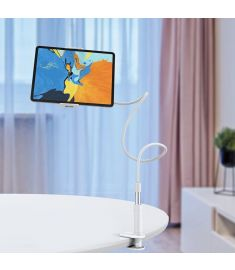 HOCO Lazy Goosneck Long Arm Phone Holder Tablet Stand For 4.0-10.5 Inch Smart Phone for iPhone 11 Tablet PC for iPad 9.7 Inch for iPad Pro 10.5 Inch