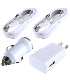 Combination Micro USB Cable + Wall and Car Charger OEM For Samsung Galaxy Note 3 S5