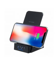 10W QI Wireless Charger Phone Holder Clock Stand Display For For Smart Phone for iPhone for Samsung Xiaomi