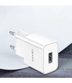 USAMS 3A Fast Charging EU USB Charger For iPhone X XS Oneplus Pocophone HUAWEI P20 Mate20 XIAOMI MI9 S10 S10+