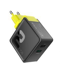 ROCK Sugar 30W QC3.0 2 USB Ports Fast Charging EU Plug Travel Charger For iphone X 8/8Plus SamsungS8