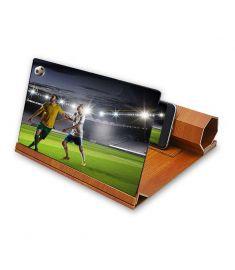 Universal 12 inches Wooden Foldable Screen Magnifier Image Enlarge Desktop Holder for Mobile Phone