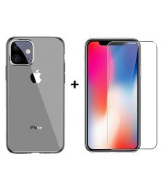 Baseus Ultra-thin Transparent Soft TPU Protective Case + Bakeey Anti-explosion Tempered Glass Screen Protector for iPhone 11 6.1 inch