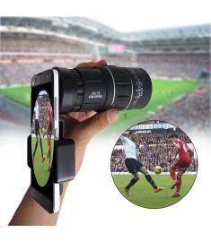 16x52 HD Universal Hiking Concert Optics Telescope Zoom Optic Lens Armoring Monocular Phone Photo Lens Phone Holder