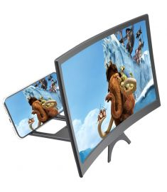 12 Inch Curved 3D HD Phone Screen Magnifier Movie Video Amplifier for Smart Phones Below 6.5 Inch for iPhone for Samsung