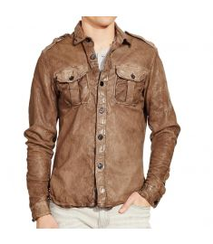 Brown Men Lambskin Leather Jacket - Best Quality Leather