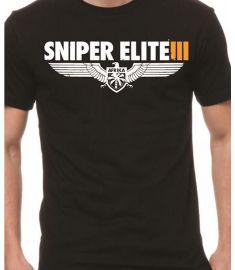 ggtees Sniper Elite Printed Black T Shirt